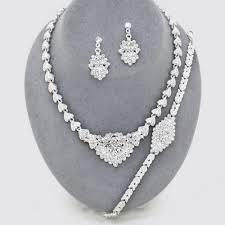 amazon black friday jewelry swarovski designer inspired bridal elegant crystal necklace bracelet earring