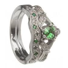claddagh wedding ring sets sparkling claddagh engagement ring sets made in ireland