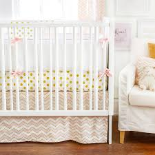 gold rush crib baby bedding in pink by new arrivals