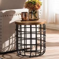 wire and wood basket side table industrial wire and wood basket side table 60 liked on