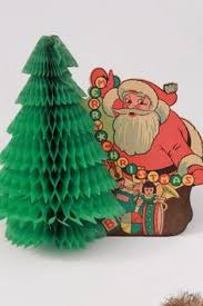 Retro Paper Christmas Decorations - vintage danish 1950s honeycomb chicken easter decoration hen on