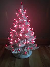 christmas vintage white ceramic christmas tree with ceramic