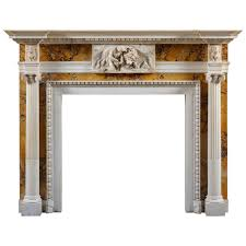 antique george iii style white statuary and sienna marble