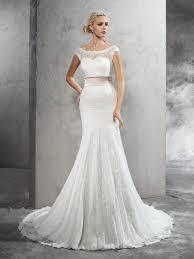 wedding dresses with sash ribbon sheath column lace sash ribbon belt sheer neck sleeveless court