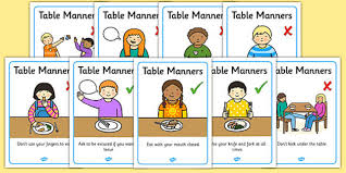 table manners table manners rules display posters table manners rules