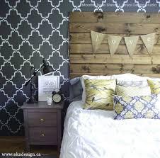 Black Painted Walls Bedroom Glam Haute Trend Black Painted U0026 Stenciled Walls Hometalk