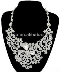 white stones necklace set images Latest fashion handmade white stone necklace set american diamond jpg