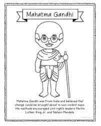 gandhi jayanti craft clipart sketch drawing printable card
