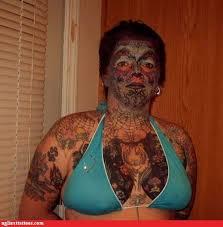 ugliest tattoos paw print bad tattoos of horrible fail