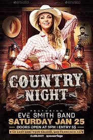 template flyer country free ffflyer download the country night flyer template