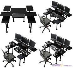Ultimate Gaming Desk Roccaforte Ultimate Pc Gaming Desk Workstation Mcs 010 Mwave
