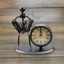 iron gifts creative iron stainless steel small alarm clock retro personalized