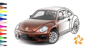 volkswagen beetle colors cars how to draw and color vw beetle coloring pages for