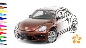 volkswagen beetle clipart beetle car coloring pages eliolera com