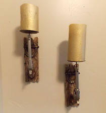 Rustic Candle Sconce Western Sconce Ebay