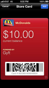 mcdonalds e gift card put your gift cards on your iphone with gyft iphone appstorm