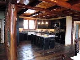 Log Homes Interior Designs Lodge Log Cabin Interior Design Ideas Hartley House Kitchen Black