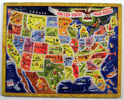 Map Puzzle Usa by A M Walzer Co United States Inlay Puzzle Tom Flickr
