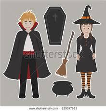 cute halloween vampire clipar clip men women period costume stock vector 95133559 shutterstock