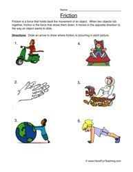 learn about force friction physical science worksheets and