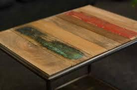 table basse bout de canapé table basse de style industriel conçue en bois recyclé et