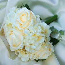 silk flowers for wedding beige real touch artificial hydrangea flower wedding bridal