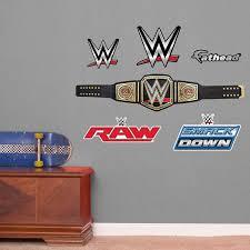 amazon com fathead wwe title belt junior peel and stick wall amazon com fathead wwe title belt junior peel and stick wall decals home kitchen