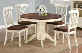 white extending dining table and 6 chairs small round wood set
