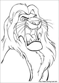 lion king coloring picture
