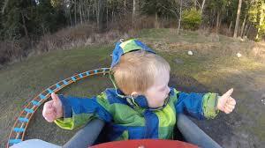 back yard roller coaster wyatt u0027s first ride youtube