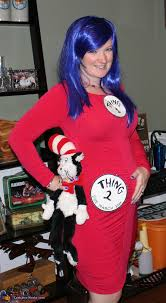pregnancy costume thing 1 and thing 2 pregnancy costume
