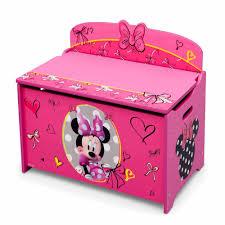 Toy Box Ideas Disney Minnie Mouse Deluxe Toy Box Walmart Com