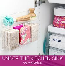 how to organize the sink cabinet iheart organizing organizing the kitchen sink