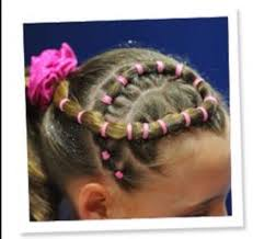 ribbon for hair that says gymnastics 21 best meet hair images on pinterest gymnastics hairstyles