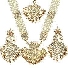 gold rani haar sets buy prita s bridal collection kundan pearl rani haar necklace set