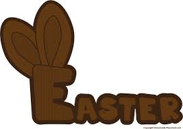 chocolate bunny ears free easter clipart