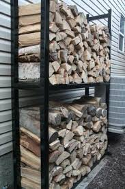 Outdoor Firewood Storage Rack Plans by Another Very Diy Galvanized Metal Version Of A Firewood Rack This