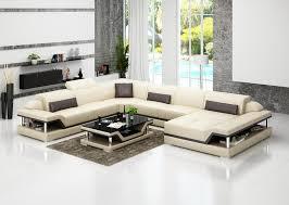 Chinese Top Grain Leather Sofa Set Living Room Sofa  Gin - Corner sofa design