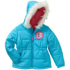 disney frozen girls winter magic puffer coat walmart