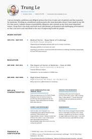 Hospital Resume Sample by Medical Doctor Resume Samples Visualcv Resume Samples Database