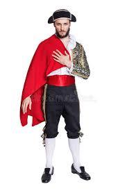 Matador Halloween Costumes Man Matador Costume Red Cape Stock Photo Image 42529763