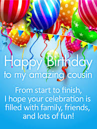 a day happy birthday wishes card for cousin birthday