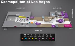 Casinos In The United States Map by Cosmopolitan Of Las Vegas Hotel Map