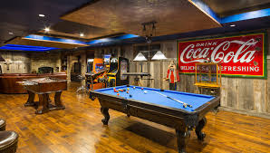Rustic Pool Table Lights by Dazzling Coca Cola Refrigerator In Family Room Rustic With