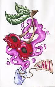 47 cherry skull tattoos ideas 55 cherry designs their meaning 55