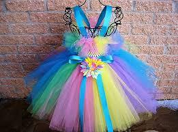 rainbow tutu dress flower gown first birthday dress
