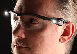 safety glasses with lights dual led safety glasses light up when you work in the dark