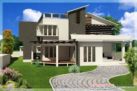 beautiful home home on storey sloping roof home plan kerala home