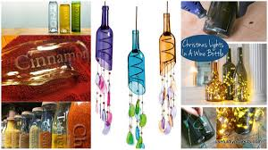 16 glass bottle crafts for home decor and gift ideas