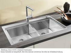 spüle küche arbeitsplatte aus labrador scuro mit flächenbündiger spüle aus